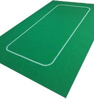 GREEN POKER / TEXAS HOLD EM  FELT BAIZE LAYOUT-1000's Sold of this popular baize