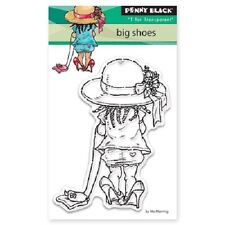 PENNY BLACK RUBBER STAMPS CLEAR BIG SHOES NEW clear STAMP SET