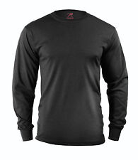 Rothco 60212 Long Sleeve Solid Poly/Cotton T-Shirt - Black