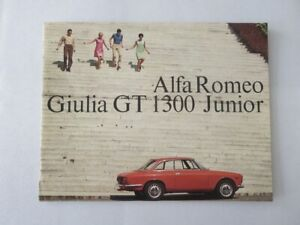 Vintage Alfa Romeo GT 1300 Junior Sales Brochure Catalog Advertising