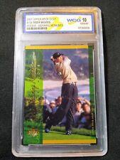 Tiger Woods 2001 Upper Deck Golf #124 Rookie Defining Moments WCG 10 GEM-MT