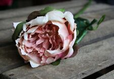 Individual Faux Silk Peony in Antique Pink, Artificial Luxury Peonies Flower