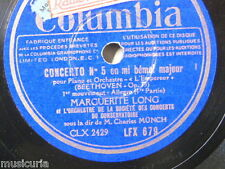 "78rpm 5x12"" MARGUERITE LONG - BEETHOVEN piano concerto 5 emperor ; CHARLES MUNCH"
