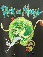 Rick And Morty 3X Gray Portal Graphic T-Shirt Mens