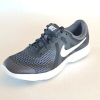 Nike Revolution 943309-006 Running Shoes Girls Womens Size 4Y Youth Black White