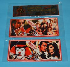 OCTOPUSSY James Bond 007 Roger Moore DOBLE METAL CARD PUZZLE ARGENTINA 1
