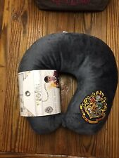 "Harry Potter ""Hogwarts Crest"" Applique Travel Neck Pillow 12x13x3,Multicolor"