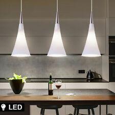 LED Plafond Suspendu Lampe Cuisines Cône Design Verre Couloir Opale