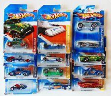 Lot of 12 Hot Wheels - Go kart, Beetle, Madfast, Camaro , Drag Merc - 1:64 - New