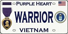 "Air Force - Vietnam - Purple Heart - Tough, Durable Magnetic Sign - 6"" L X 3"" H"