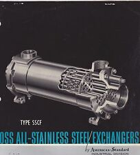 VINTAGE CATALOG #2805 - 1960 ROSS ALL STAINLESS STEEL EXCHANGERS