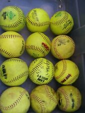 12 Optic Green Softballs ASA Dudley Evil