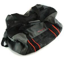 Deep See Mesh Wet Duffel Drain Large Bag Gray Red Black Shoulder Strap