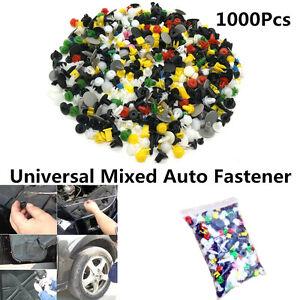 1000 Pcs Car Bumper Clips Rivet Door Panel Fender Universal Mixed Auto Fastener