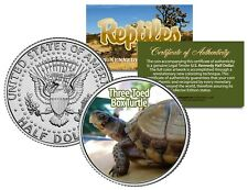 THREE-TOED BOX TURTLE - Collectible Reptiles JFK Kennedy Half Dollar US Coin