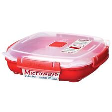 Sistema Microwave Plate Steaming Tray 880ml Food Travel Lunch Cook Container