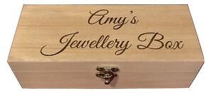 PERSONALISED Engraved Wooden Compartment Trinket Wood Keepsake Box Wedding Gift