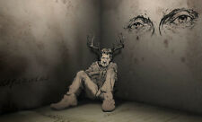 Framed Print - Half Stag Half Human Creature (Gothic Animal Picture Poster Art)