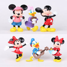 6pcs Disney Mickey Mouse Figures Minnie Donald Clubhouse Figurine Cake Topper