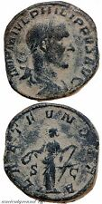 ROMAN SESTERTIUS COIN PHILIP I THE ARAB LAET FVNDATA, S-C 244-249 AD