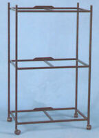 """3 Tiers Stand For 30'x18'x18""""H Aviary Bird Flight Breeding Cages BK"""