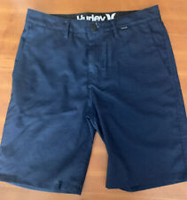 "HURLEY  BLUE/BLACK CHECKERED  WALKSHORT 20"" REG FIT CASUAL SHORTS SIZE 29"