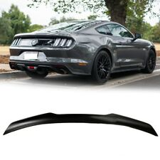 Unpainted For Ford Mustang 6th Coupe 2DR GT350 V Look Rear Trunk BOOT Spoiler