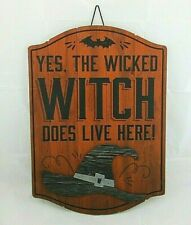 Wicked Witch Halloween Wall Sign