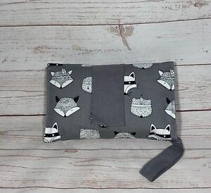 Nappy wallet diaper clutch baby diaper bag grey fox woodlands diaper clutch
