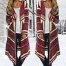 Women Lady Long Sleeve Waterfall Long Hooded Cardigan Kimono Outwear Coat Jacket