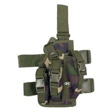 Pistolera Táctica Militar De Pierna Con Mag 3 Bolsas Airsoft Combatir Nos Woodla