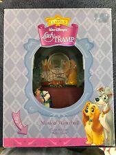 Disney Lady & The Tramp Kiss Snowglobe Enesco Music Box Bella Notte Restaurant