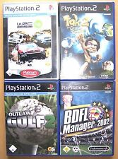 4 pezzi ps2 giochi wrc4 + Outlaw Golf 2 + BDFL 2002 + TAK 2-SONY PLAYSTATION 2