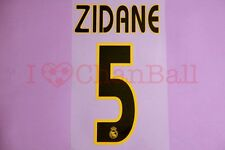 Zidane #5 2003-2005 Real Madrid Homekit Nameset Printing