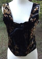 Bustier Vtg 1990s My Boyfriend's Back Wearable Art SILK VELVET Brocade Sz M