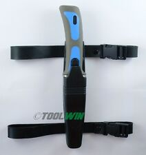 Scuba Diver Knife Sheath Dive Leg and Arm Straps Stainless Steel Blue