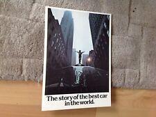 """ROLLS ROYCE """" STORY OF BEST CAR IN THE WORLD """" BROCHURE   1977"""