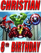 PERSONALIZED Avengers BIRTHDAY SHIRT ADD NAME & AGE FOR FAMILY