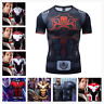Marvel Avengers 4 Superhero Cosplay Compression Tights Quick-Drying T-shirt Tops