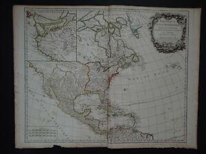 1783 Vaugondy Atlas Universel map  NORTH AMERICA - Amerique Septentrionale