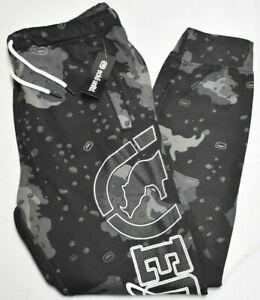 Ecko Unltd Jogger Pants Men Logo Fleece Sweatpants Black Desert Camo Urban R022