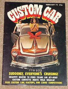 CUSTOM CAR Magazine Feb 1975 - FORD VICTORIA, VICTOR FE 2300S, STANDARD 8/10