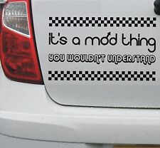 It's a mod thing vinyl decal sticker - mod scooter vespa lambretta - DEC1133