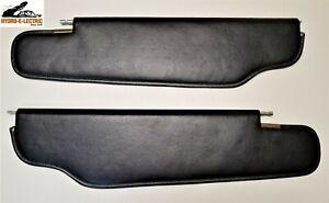 NEW 1964 Buick & Oldsmobile Convertible Black Vinyl Upholstered Sun Visors- Pair