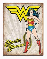 DC Comics A3 Retro Tin Metal Sign 'WONDER WOMAN' 41x32cm Rustic look Licensed