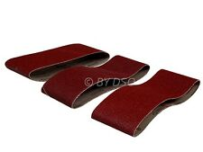 Trade Quality Pack of 3 75mm X 457mm 60 80 100 Grit Sanding Belts
