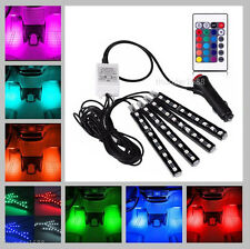 Full Color LED Glow Interior Car Kit Under Dash Foot Floor Seats Accent Light