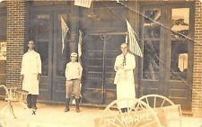 """Fort Myers FL """"City Market"""" All American Shoe Store Real Photo RPPC Postcard"""