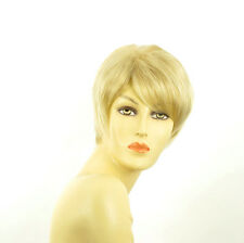 short wig for women golden blond wick very light blond ref: elsa 24bt613 PERUK