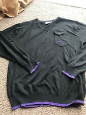 Duck and Cover Black Fine knit Jumper XL